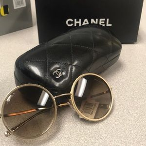 NWT Chanel round frame sunglasses